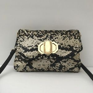 DEUX LUX Anthropologie Sequin Clutch Evening Bag